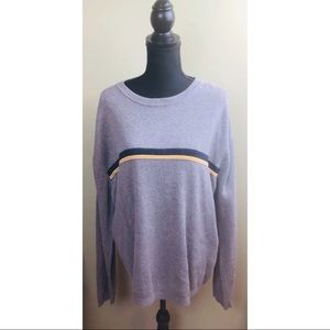 Aeropostale gray sweater with navy stripe